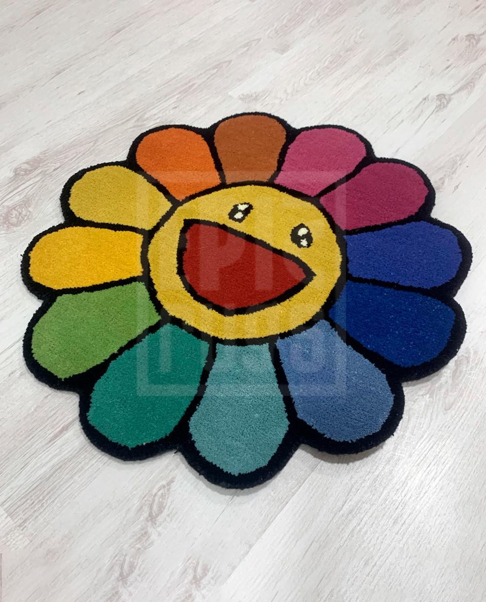 murakami flower rug